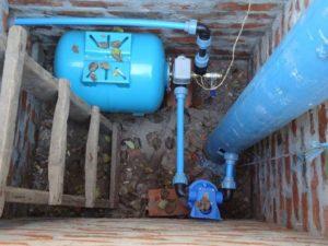 скважина водоснабжения с оборудованием