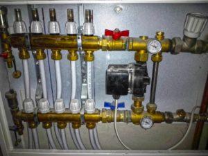 Узел управления (насосно-смесительный) водяных теплых полов