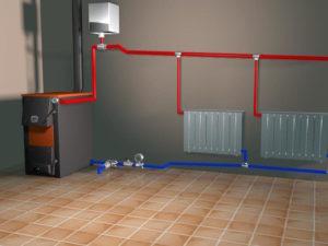 Двухтрубная схема разводки отопления