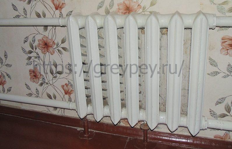 Чугунный радиатор в системе с естественной циркуляцией теплоносителя