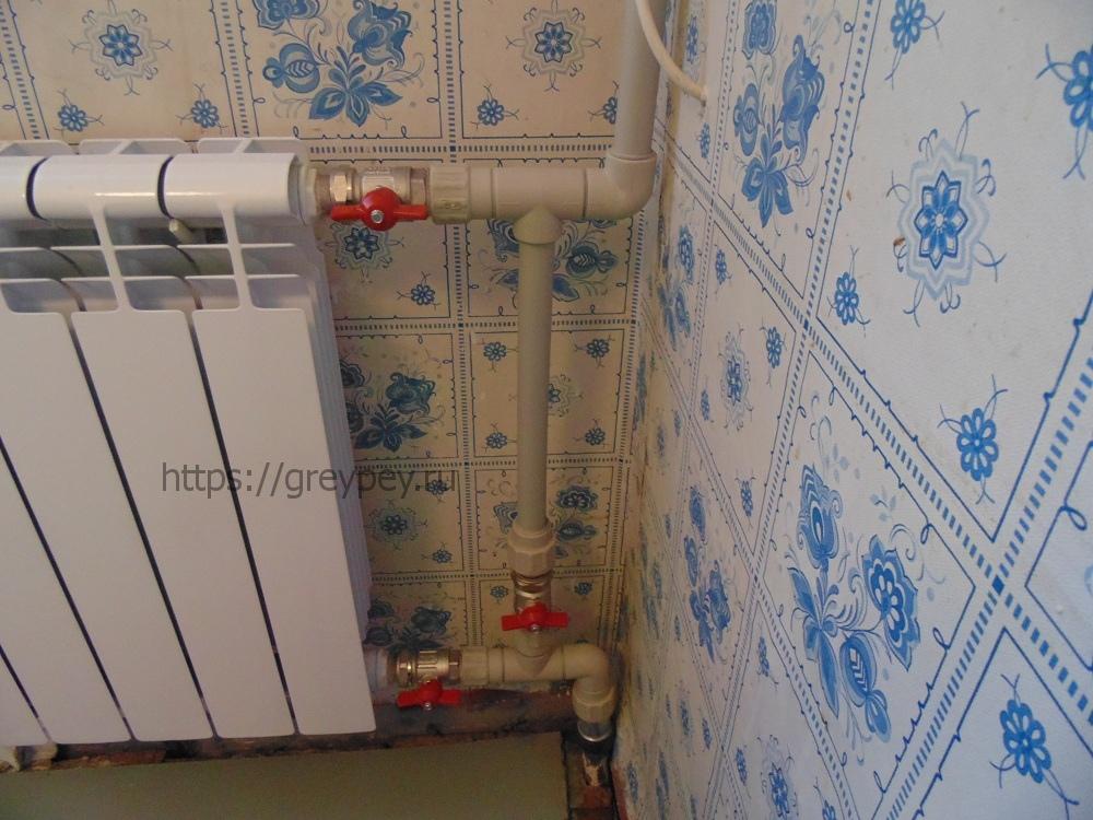 Выбор способа подключения приборов отопления