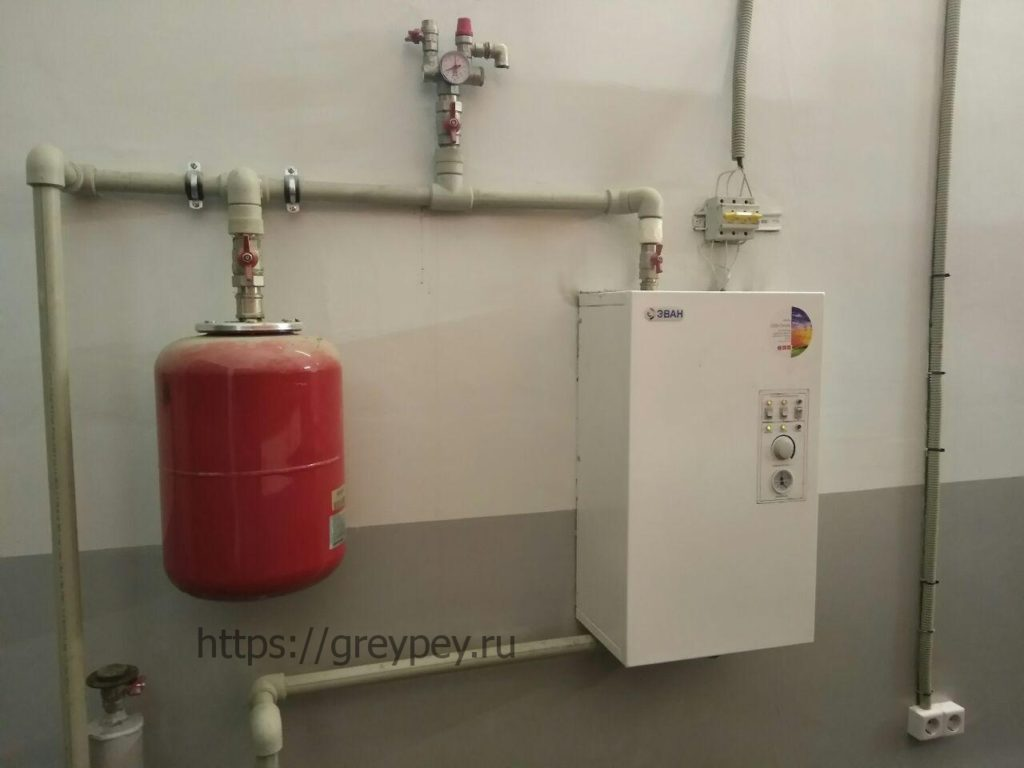 Отопление электрическим котлом