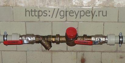 Сооружение узла учета холодного водоснабжения