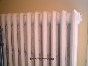 Монолитный чугунный радиатор