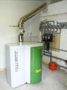 Пеллетный котел с бункером дозирования топлива