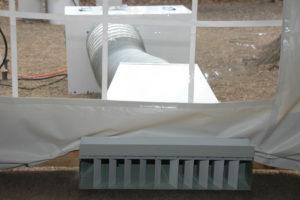Наружное размещение теплогенератора
