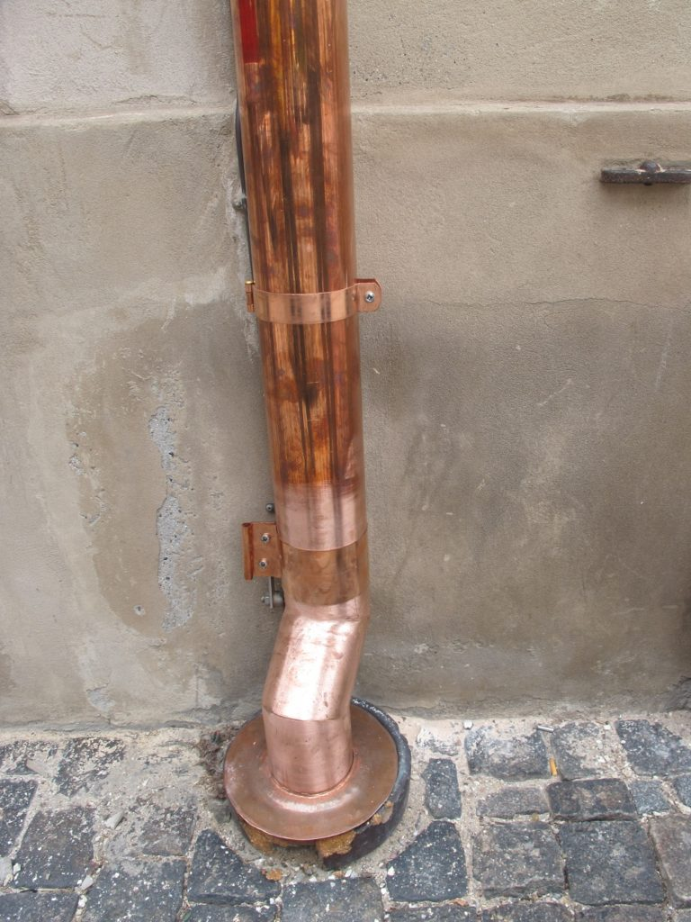 Система сбора воды с крыши и дождеприемник