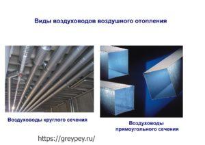 Виды воздуховодов воздушного отопления