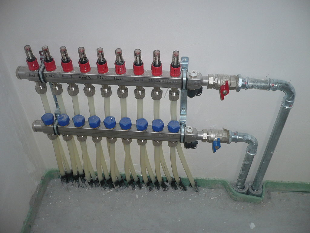Коллекторы разводки труб водоснабжения