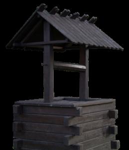 Колодец шахтного типа из дерева