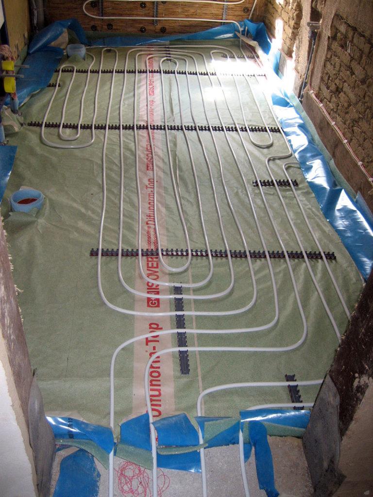 Устройство системы отопления теплыми полами