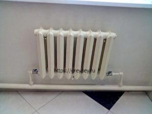 Подключение радиатора к трубопроводу увеличенного диаметра