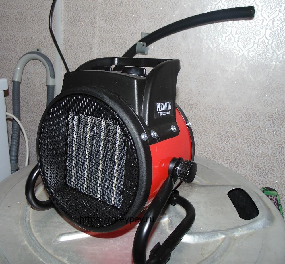 Тепловентилятор со спиралью накаливания