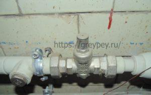 Редуктор давления на вводе водопровода
