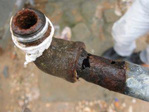 Коррозия стальной трубы