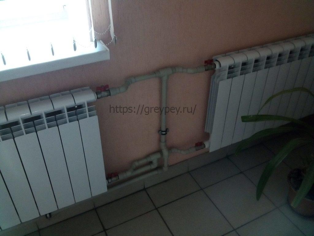 Боковое подключение радиаторов