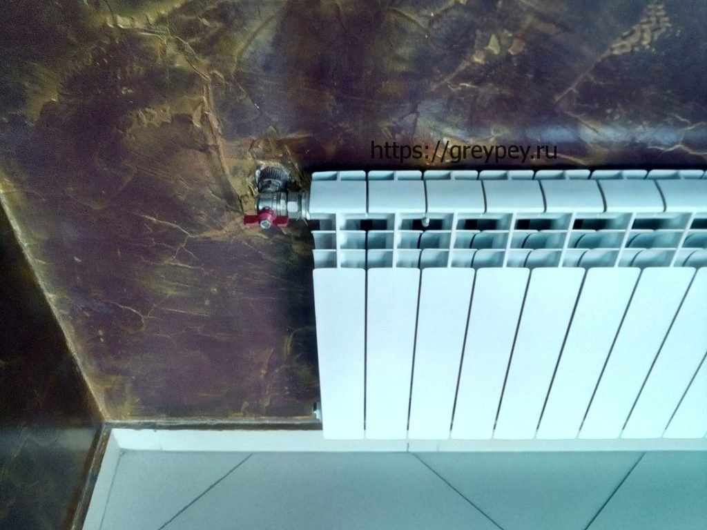 Батарея отопления на кухне