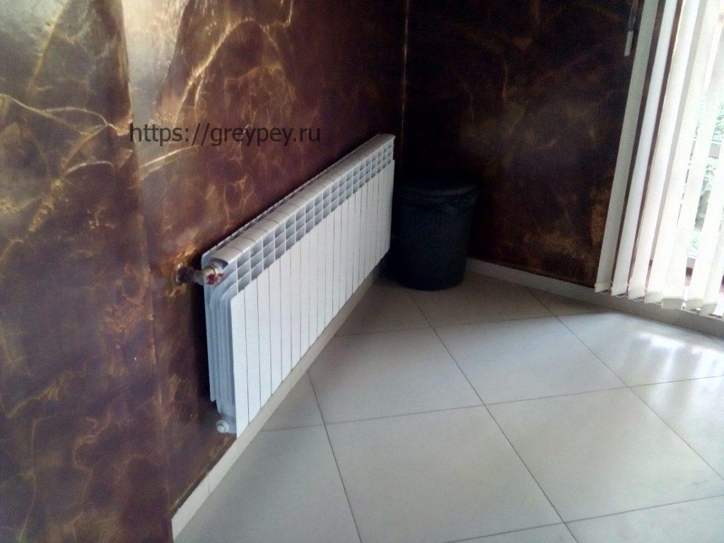 Комбинированное отопление теплый пол и радиаторы