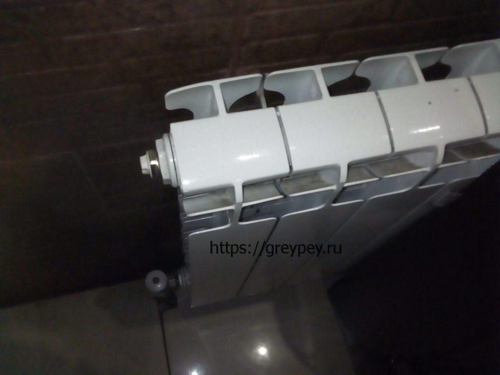Устройство батареи отопления