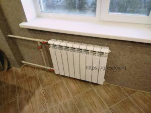 Замена батарей отопления в квартире зимой