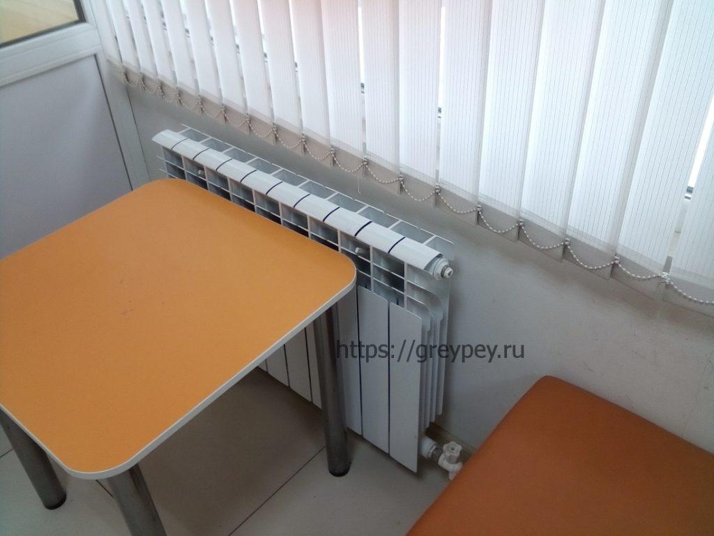 Мощность радиаторов отопления таблица