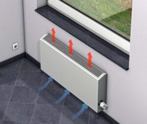 Водяной настенный конвектор отопления