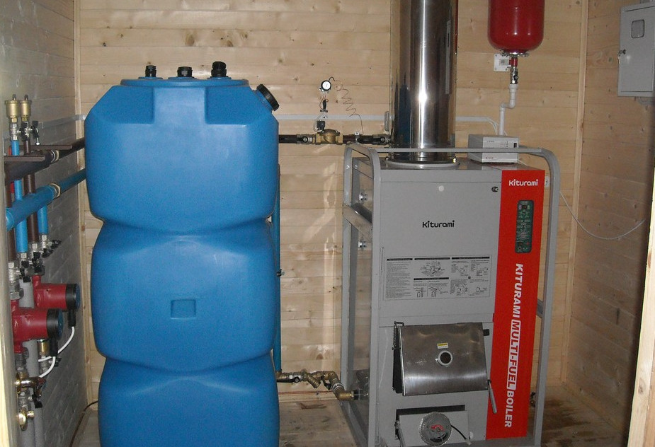 Размещение дизельного котла и емкости топлива