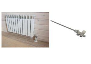 Боковое подключение радиатора с помощью узла