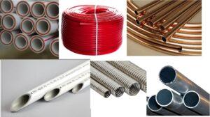 Виды трубопроводов для отопления